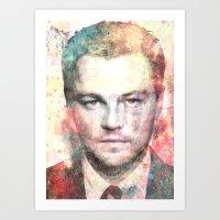 leonardo dicaprio Art Prints featuring Leonardo DiCaprio by Nechifor Ionut