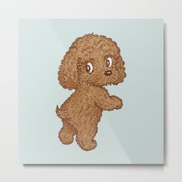 Toy-Poodle standing Metal Print