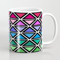 triangle Mugs featuring Triangle by Laura Maria Designs