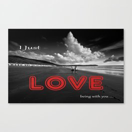 Being with you  Canvas Print