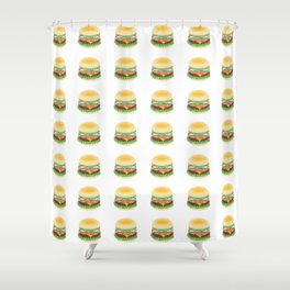 Hamburger pattern Shower Curtain