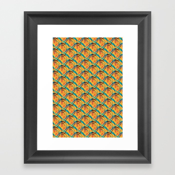 paper cutouts of leafs Framed Art Print
