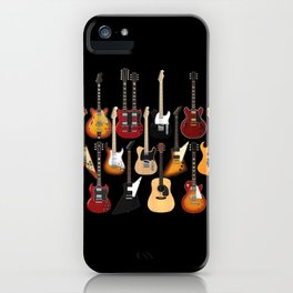 Too Many Guitars! iPhone Case