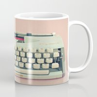 letter Mugs featuring Love Letter by Cassia Beck