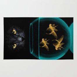Black Cat Goldfish Rug