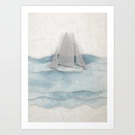 Floating Ship Art Print
