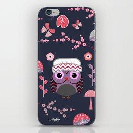 Baby owl, lizards and butterflies iPhone Skin