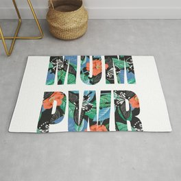 Floral Mother's gift, mom power, for strong mamas. Rug
