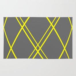 Yellow & Grey Diamonds Rug