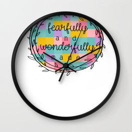 Christian Fearfully and Wonderfully Made Wall Clock