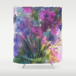 Red Violet Blue Violet Shower Curtain
