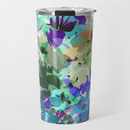 Ocean Blue Wildflowers Travel Mug