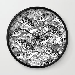 spotted puffs Wall Clock