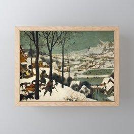 The Hunters in the Snow, Pieter Bruegel the Elder Framed Mini Art Print