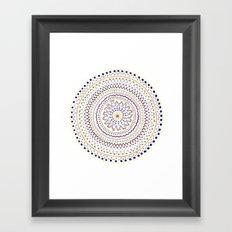 Mandala Smile A Framed Art Print