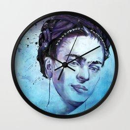 Frida Watercolor Wall Clock