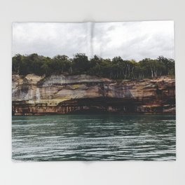 Pictured Rocks I Throw Blanket