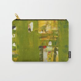 Iodine Green Abstract Art Modern Print Carry-All Pouch