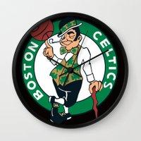 nba Wall Clocks featuring NBA - Celtics by Katieb1013