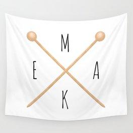 MAKE  |  Knitting Needles Wall Tapestry