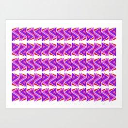 Modern Funky Hourglass Letter Zee Arrows Triangle Art Print