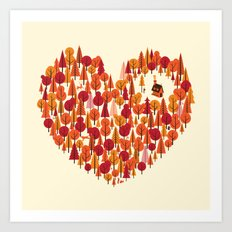 Wild at Heart Art Print