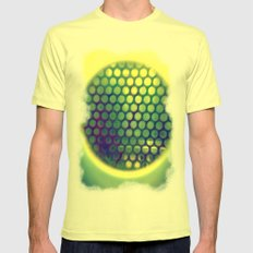Circle-Ception  SMALL Lemon Mens Fitted Tee