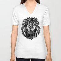 zodiac V-neck T-shirts featuring Signs of the Zodiac - Leo by Andreas Preis