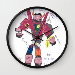 Charlie's Drawing Wall Clock