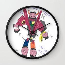 Charlie's Drawing Wall Clock