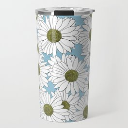 Daisy Blue Travel Mug