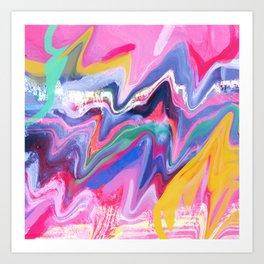 Jump Boom Clap Art Print