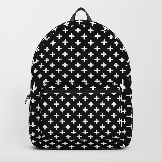 Simple Scandinavian black and white pattern . Backpack