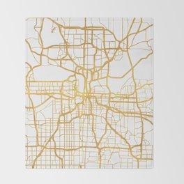 KANSAS CITY MISSOURI CITY STREET MAP ART Throw Blanket