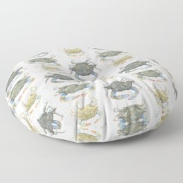 Blue Crabs Floor Pillow