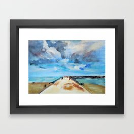The Breakwater Framed Art Print