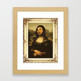 Ups! ( Mona Lisa - La Gioconda ) Framed Art Print