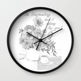 Oh Darjeeling How I Oolong for You! Wall Clock