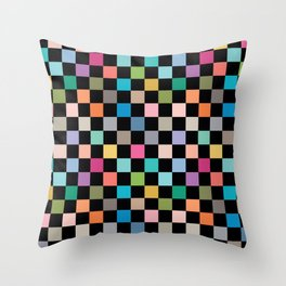 Multicolour Squares Checkerboard Throw Pillow