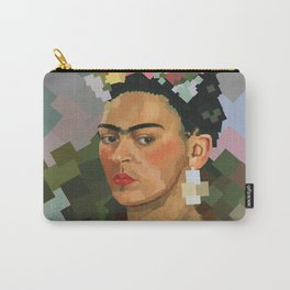 Frida Kahlo Cubed Carry-All Pouch