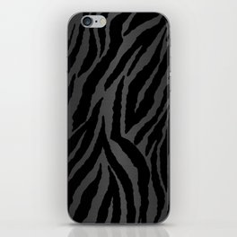 Zebra Stripes & Dark Metallic iPhone Skin