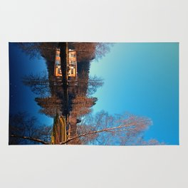 Winter mood on the river II   waterscape photography Rug