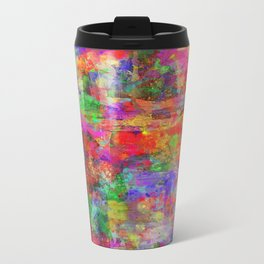 Vibrant Chaos - Mixed Colour Abstract Travel Mug