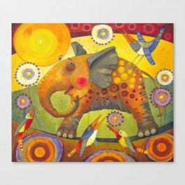 Enamored elephant Canvas Print