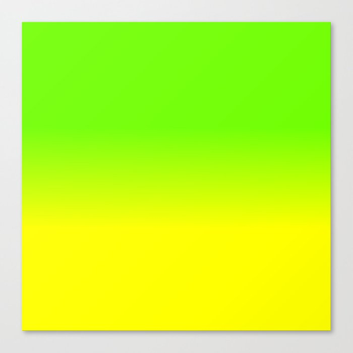 Neon Green and Neon Yellow Ombré Shade Color Fade Canvas ...