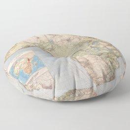 1885 Vintage Map of Africa Floor Pillow