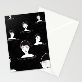 les baigneuses Stationery Cards