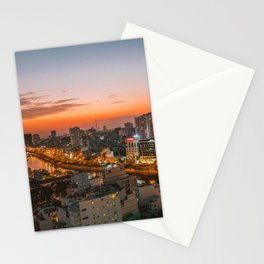 Moi Ho Chi in Vietnam Sunset Landscape Stationery Cards