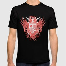 Lost coat of arms LARGE Black Mens Fitted Tee