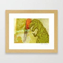 An unZen dinosaur moment Framed Art Print